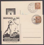 """Mi-Nr. PP 122 C11, C12/03, """"Beposta"""", 1935, 2 Versch. Karten, Je Sst - Postwaardestukken"""