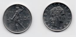 50 Lire – Italie – 1973 – Vulcain – Acier – Etat TTB – KM 95.1 - 1946-… : República