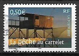FRANCE   -   2003 .  Y&T N° 3560 Oblitéré.  CACHET ROND .    La Pêche Au Carrelet - France