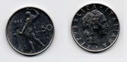 50 Lire – Italie – 1975 – Vulcain – Acier – Etat TTB – KM 95.1 - 1946-… : República