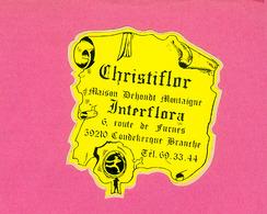 AUTOCOLLANT STICKER.  COUDEKERQUE  BRANCHE.  CHRISTIFLOR.  MAISON  DEHONDT  MONTAIGNE - Stickers