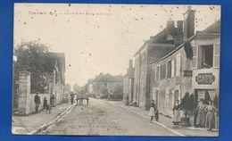 TRANNES  Grande Rue   Café    Animées        écrite En 1906 - Andere Gemeenten