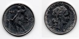 50 Lire – Italie – 1986 – Vulcain – Acier – Etat TTB – KM 95.1 - 1946-… : República