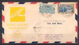 Premier Service Par Avion De Cayenne Pour USA De 1931 Avec YT 104 Et YT 121  Cote Maury 110 € - Guyane Française (1886-1949)