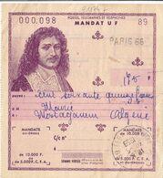 21174# MANDAT COLBERT Obl PARIS TURGOT 1959 Pour MOSTAGANEM ALGERIE - Algeria (1924-1962)