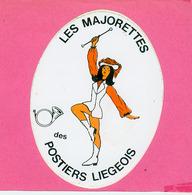 AUTOCOLLANT STICKER.  LES  MAJORETTES  DES  POSTIERS  LIEGEOIS - Stickers