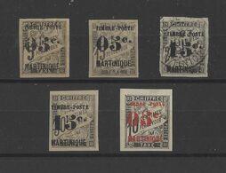 MARTINIQUE.  YT  N° 19/23  Neuf */obl  1891 - Neufs