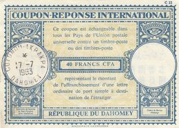 COUPON-REPONSE INTERNATIONAL. DAHOMEY. 17 7 63. COTONOU-AKPAKPA / 2 - Dahomey (1899-1944)