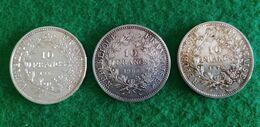 Lot De 3 Pièces 10 Francs  Argent Dupré - K. 10 Francs