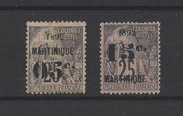 MARTINIQUE.  YT  N° 27-28  Neuf *  1892 - Neufs