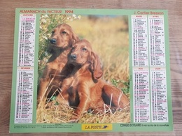 Calendrier-Almanach Des Postes P.T.T.     1994     Eure - Grand Format : 1991-00