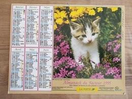 Calendrier-Almanach Des Postes P.T.T.     1995     Ile De France - Grand Format : 1991-00