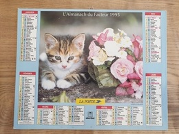 Calendrier-Almanach Des Postes P.T.T.     1995     Eure - Grand Format : 1991-00