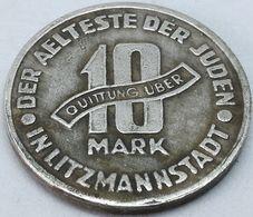 RÉPLICA Moneda 1943. 10 Mark. Judía, Getto De Lodz, Litzmannstadt, Polonia. Rara. II Guerra Mundial - Polen