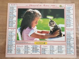 Calendrier-Almanach Des Postes P.T.T.     1996     Eure - Grand Format : 1991-00