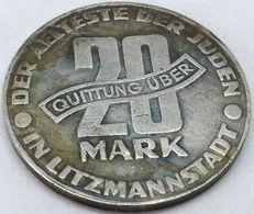 RÉPLICA Moneda 1943. 20 Mark. Judía, Getto De Lodz, Litzmannstadt, Polonia. Rara. II Guerra Mundial - Polen