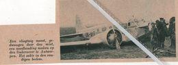 ANTWERPEN..1937.. EEN NOODLANDING VAN EEN VLIEGTUIG OP DEN LINKEROEVER - Non Classificati