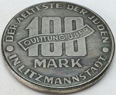 RÉPLICA Moneda 1943. 100 Mark. Judía, Getto De Lodz, Litzmannstadt, Polonia. Rara. II Guerra Mundial - Polen