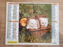 Calendrier-Almanach Des Postes P.T.T.     1998     Eure - Grand Format : 1991-00