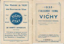 1935 VICHY -CARNET ETABLISSEMENT THERMAL - Eintrittskarten