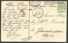 Belgique - Griffe Linéaire BASECLES Pour La Glanerie Rumes - Verso Carte Expo Bruxelles 1910 Pavillon Allemagne - Linear Postmarks
