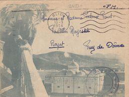 21183# ALGERIE LETTRE DEPOT MILITAIRE DUCROS N° 304 Obl BLIDA ALGER 1956 Pour ROYAT PUY DE DOME - Guerre D'Algérie