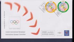 Switzerland International Olympic Committee FDC 2000 Sydney Olympic Games (NB**LAR9-167) - Verano 2000: Sydney