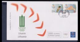 Lithuania FDC 2000 Sydney Olympic Games (NB**LAR9-167) - Verano 2000: Sydney