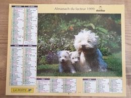 Calendrier-Almanach Des Postes P.T.T.     1999     Eure - Grand Format : 1991-00