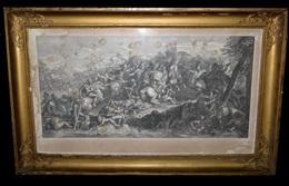 [Alexandre Le Grand] Le BRUN (Charles Ou LEBRUN) / PICAULT - La Vertu Surmonte Tout Obstacle. C. 1700. 74 X 35 Cm. - Gravados