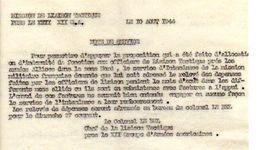 C14 1944 Mission De Liaison Tactique(français) Aupres De US ARMY  12 E Groupe D'armée - Marcophilie (Lettres)