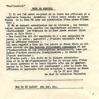 C14 1944 Mission De Liaison Tactique(français) Aupres De US ARMY  4e Division D'infanterie - Marcophilie (Lettres)