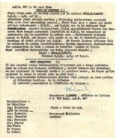 C14 1944 Mission De Liaison Tactique(français) Aupres De US ARMY  4e Division D'infanterie APO 307 - Marcophilie (Lettres)