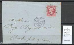 France - Yvert 24 - Paris Pour Rochefort Sur Mer - 1864 - 1849-1876: Periodo Clásico