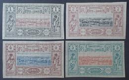 DF50500/936 - 1894/1900 - COLONIES FR. - COTE FR. DES SOMALIS - N° 6 à 9 NEUFS(*) - Cote (2020) : 49,50 € - Ongebruikt