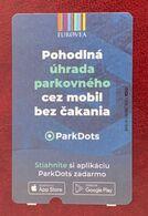 Slovakia, Bratislava, Parking Ticket For Eurovea Mall, 2020 - Eintrittskarten