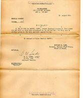 C14 1944 Mission De Liaison Tactique(français) Aupres De US ARMY  4e Division D'infanterie APO 4 - Marcophilie (Lettres)