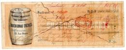 Lettre De Change, 1861, DUCOURNAU Frères, 28 Rue Neuve BORDEAUX, Denrées Coloniales, Vins, Spiritueux, Entier Fiscal. - Bills Of Exchange