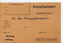 C14 194.... Carte De Correspondance De Prisonnier De Guerre Neuve (tres Légere Coupure) Neuve - Marcophilie (Lettres)