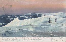 AK Riesengebirge Auf Dem Ziegenrücken Blick Elbgrund Winter Ski Skifahrer A Harrachsdorf Spindlermühle Rochlitz Iser - Sudeten