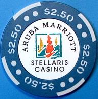 $2.50 Casino Chip. Stellaris, Aruba. N61. - Casino