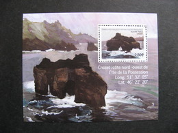 "TAAF:  TB Feuille "" Krozet: Cote Nord-ouest De L'Ile De La Possession "" 2020, Neuve XX. - French Southern And Antarctic Territories (TAAF)"