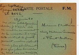 C14 1940 Carte En FM Du SP 8642 - Marcophilie (Lettres)