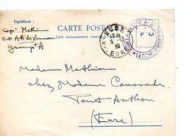 C14 1939 Carte En FM Du COAA A Vernon - Marcophilie (Lettres)