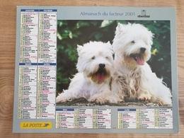 Calendrier-Almanach Des Postes P.T.T.     2001     Eure - Grand Format : 1991-00