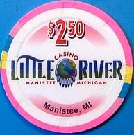 $2.50 Casino Chip. Little River, Manistee, MI. N61. - Casino