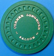 50¢ Casino Chip. Corner Longhorn, Rocklin, CA. N61. - Casino