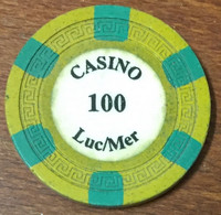 14 LUC SUR MER JETON DE CASINO DE 100 FRANCS CHIP TOKEN COIN - Casino