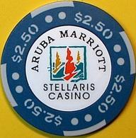 $2.50 Casino Chip. Stellaris, Aruba. N62. - Casino