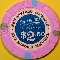 $2.50 Casino Chip. Four Winds, New Buffalo, MI. N62. - Casino